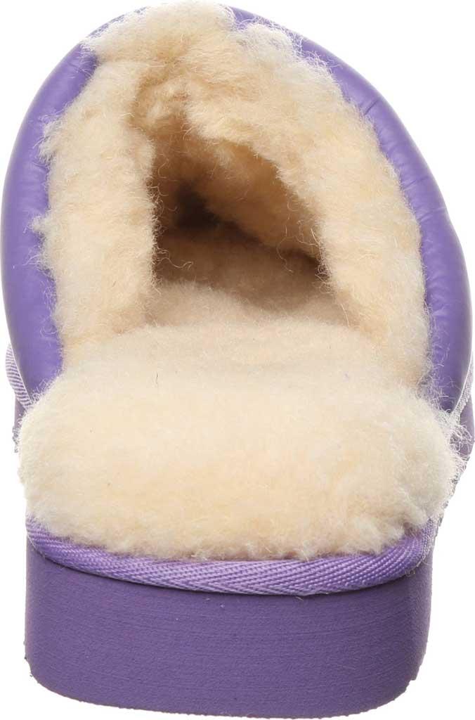Women's Bearpaw Puffy Scuff Slipper, Purple Nylon, large, image 4
