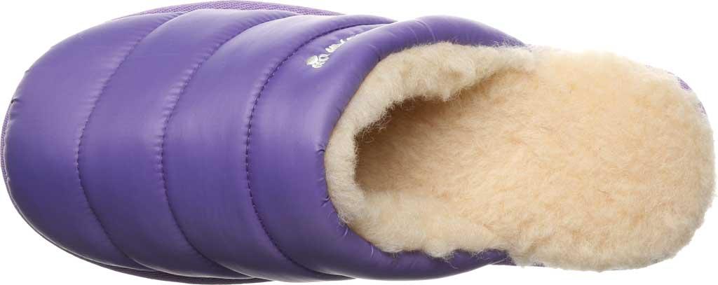 Women's Bearpaw Puffy Scuff Slipper, Purple Nylon, large, image 5