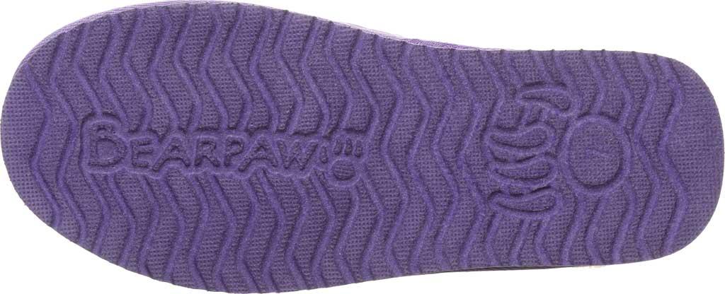 Women's Bearpaw Puffy Scuff Slipper, Purple Nylon, large, image 6