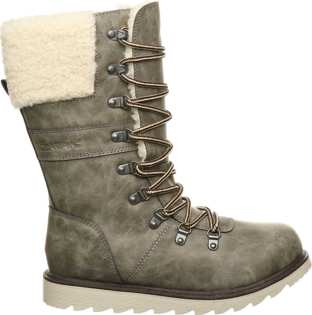 Women's Bearpaw Alaska Mid Calf Winter Boot, Taupe Faux Leather, large, image 2