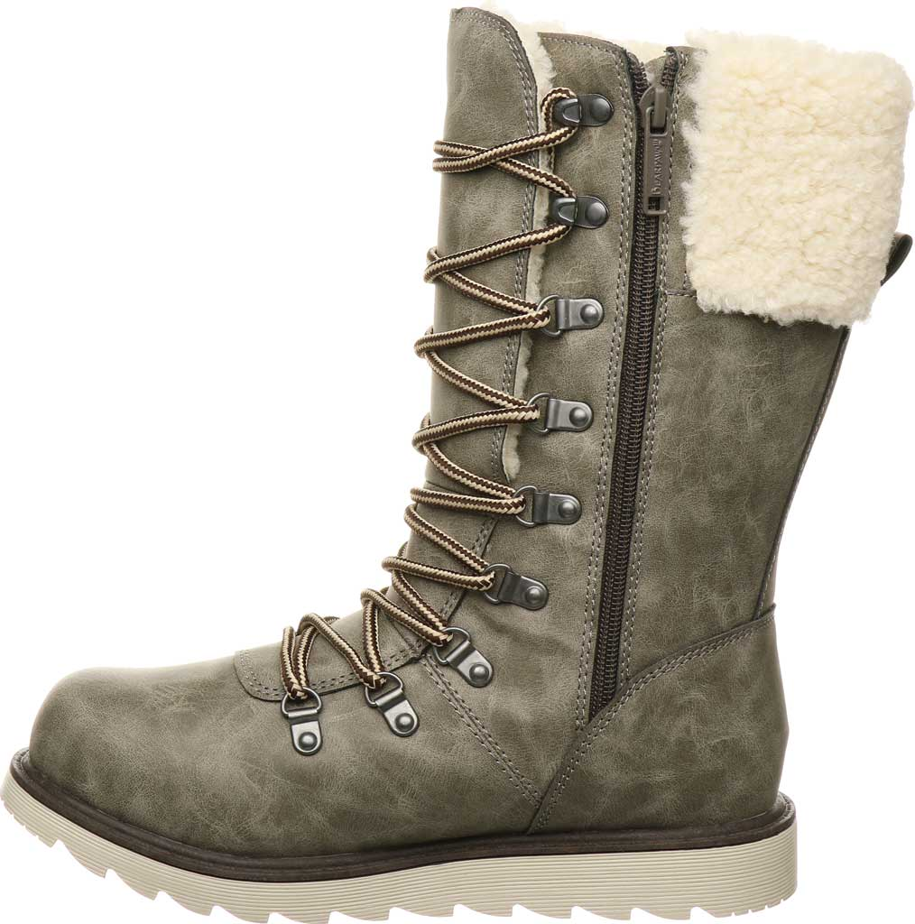 Women's Bearpaw Alaska Mid Calf Winter Boot, Taupe Faux Leather, large, image 3
