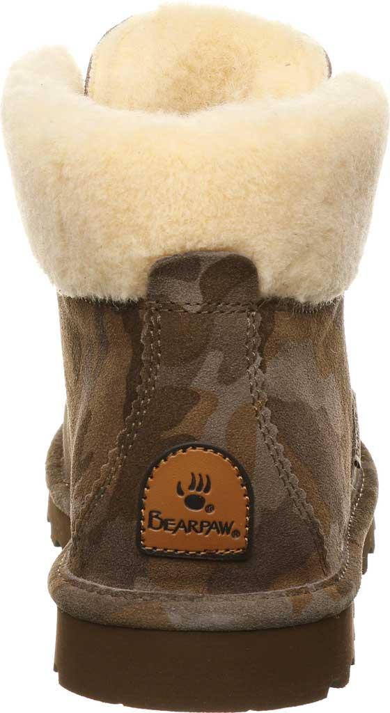 Women's Bearpaw Marta Ankle Bootie, Earth Camo Suede, large, image 4