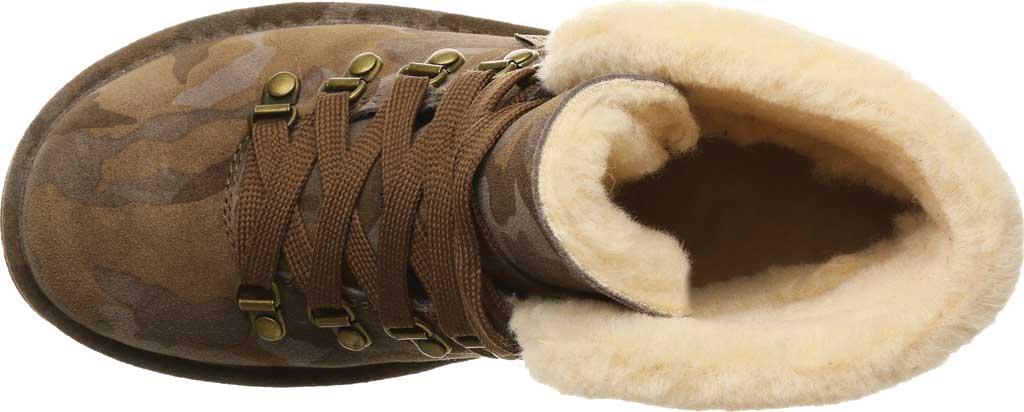 Women's Bearpaw Marta Ankle Bootie, Earth Camo Suede, large, image 5