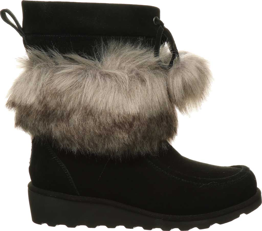 Women's Bearpaw Arden Moc Toe Wedge Boot, Black II Suede, large, image 2
