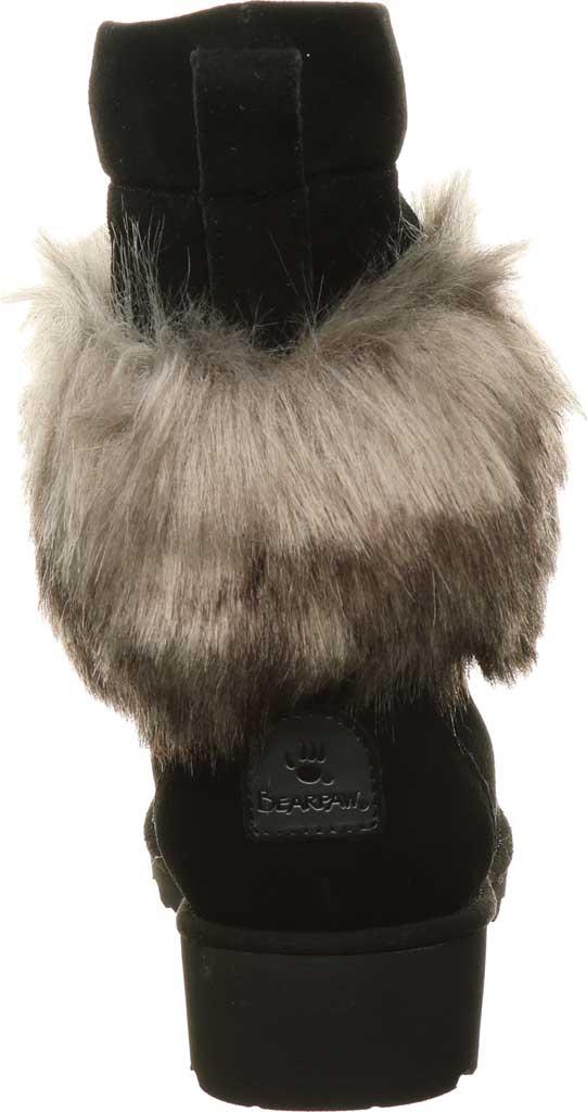 Women's Bearpaw Arden Moc Toe Wedge Boot, Black II Suede, large, image 4