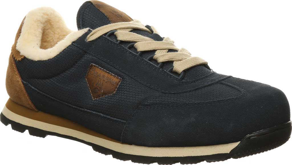 Men's Bearpaw Mogul Sneaker, Navy Suede/Nylon, large, image 1