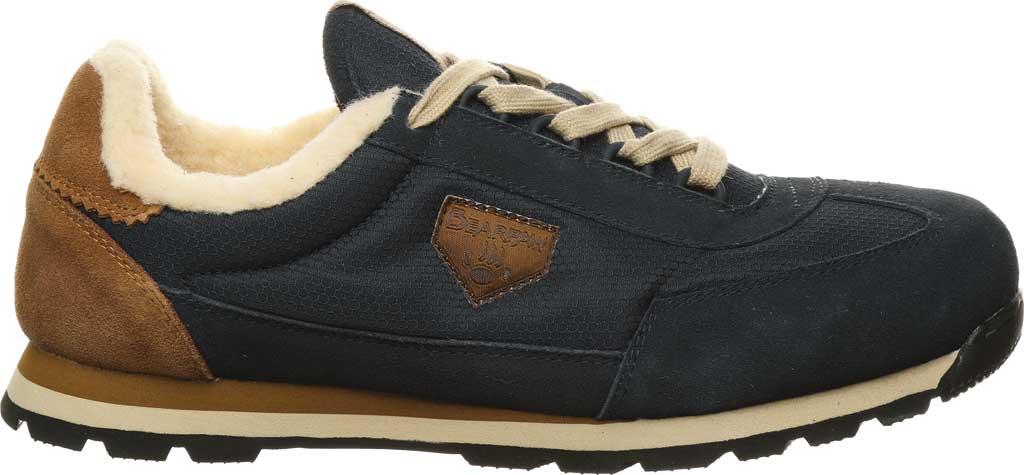 Men's Bearpaw Mogul Sneaker, Navy Suede/Nylon, large, image 2