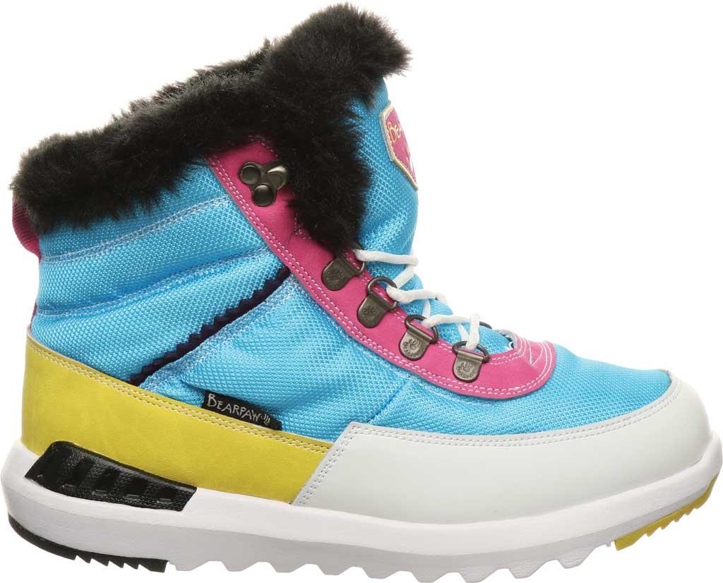 Women's Bearpaw Mokelumne Ankle Winter Boot, Hawaiian Ocean Leather/Nylon, large, image 2