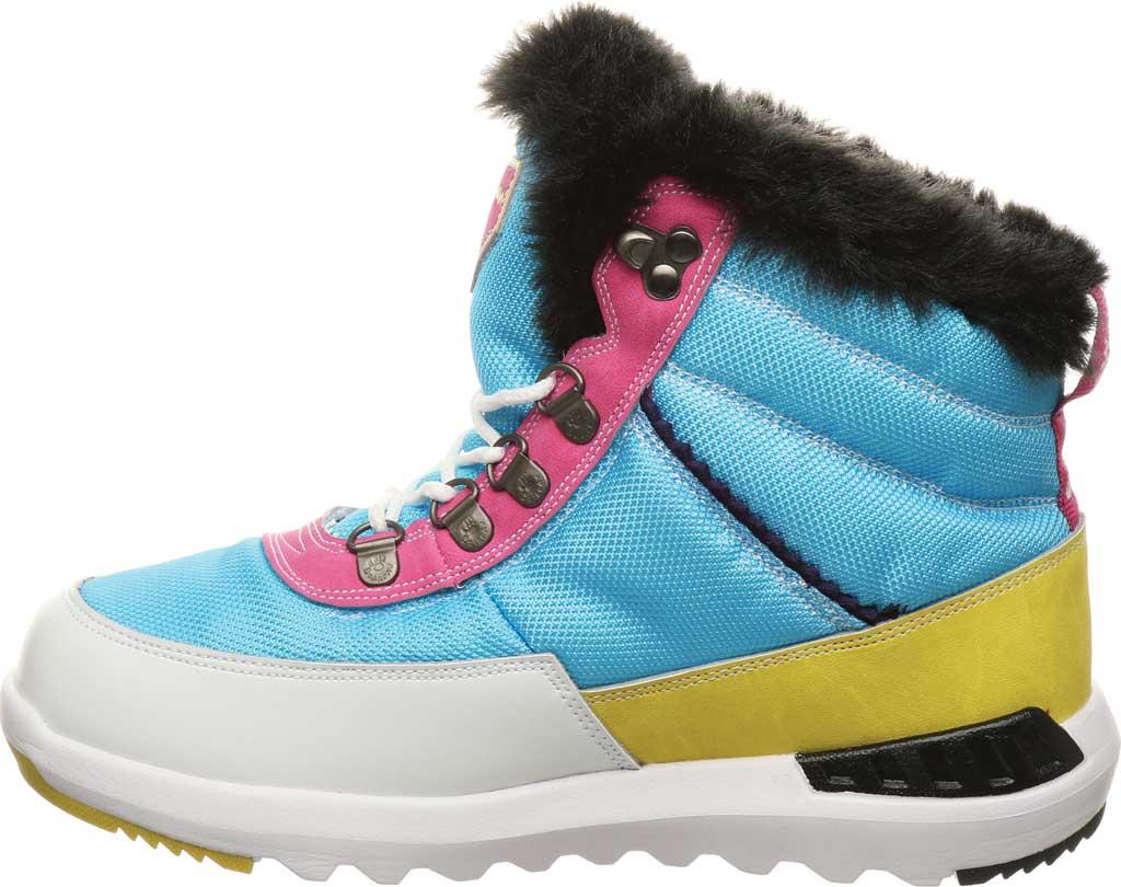 Women's Bearpaw Mokelumne Ankle Winter Boot, Hawaiian Ocean Leather/Nylon, large, image 3