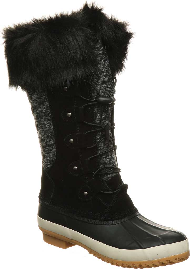 Women's Bearpaw Rory Waterproof Duck Boot, Black II Suede, large, image 1