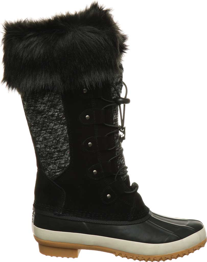 Women's Bearpaw Rory Waterproof Duck Boot, Black II Suede, large, image 2