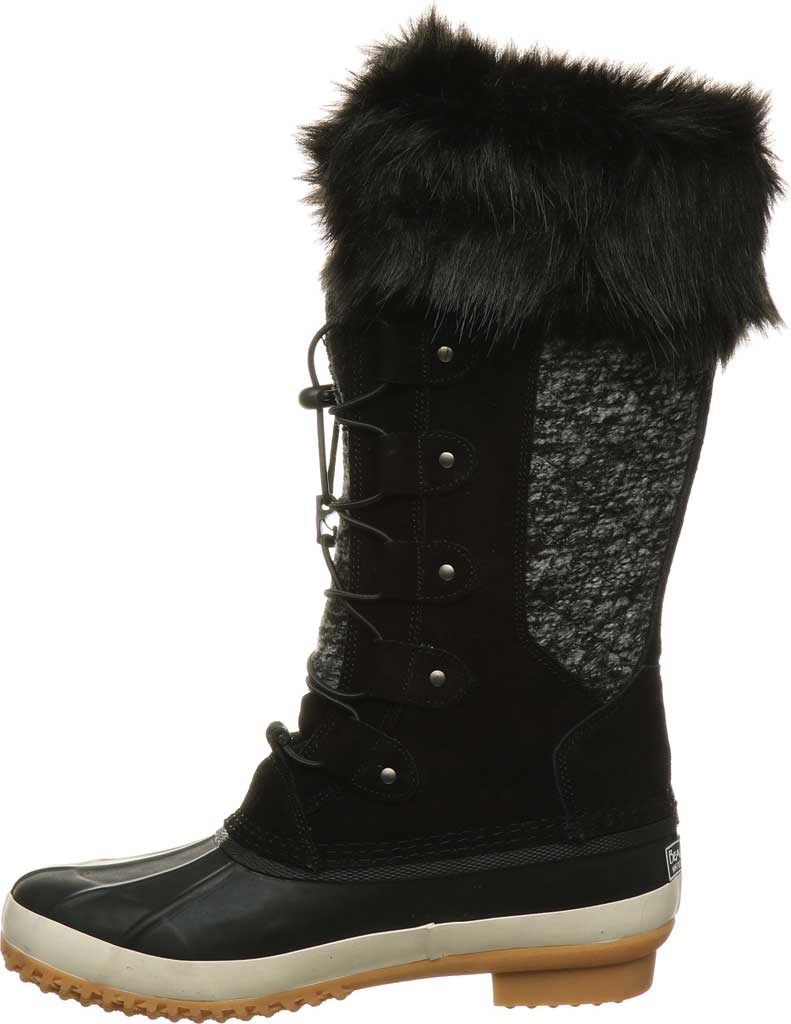 Women's Bearpaw Rory Waterproof Duck Boot, Black II Suede, large, image 3