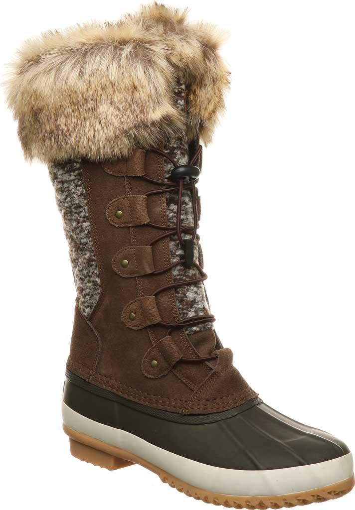 Women's Bearpaw Rory Waterproof Duck Boot, Earth Suede, large, image 1
