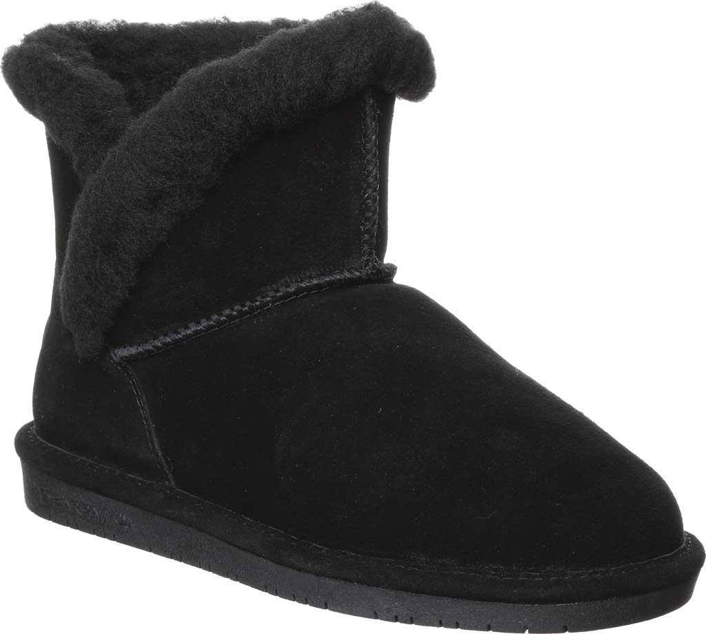 Women's Bearpaw Heidi II Short Boot, Black Suede, large, image 1