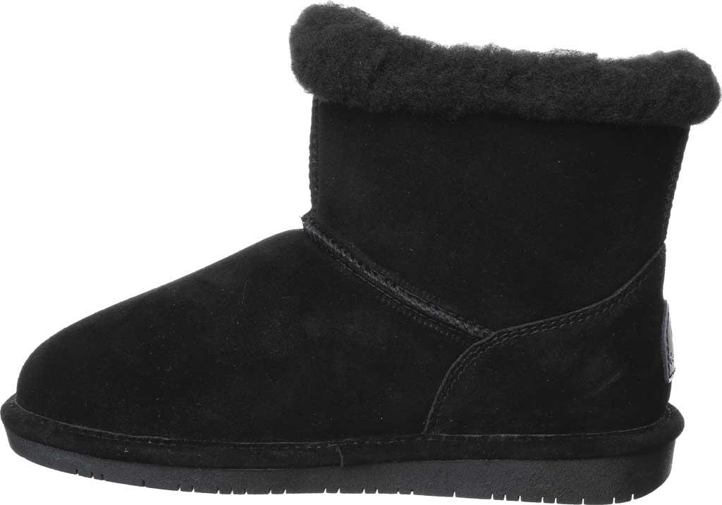 Women's Bearpaw Heidi II Short Boot, Black Suede, large, image 3