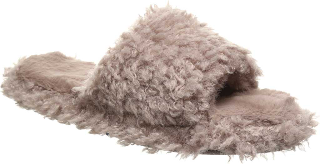 Women's Bearpaw Maxine Slide Slipper, Grey Fog Faux Fur, large, image 1