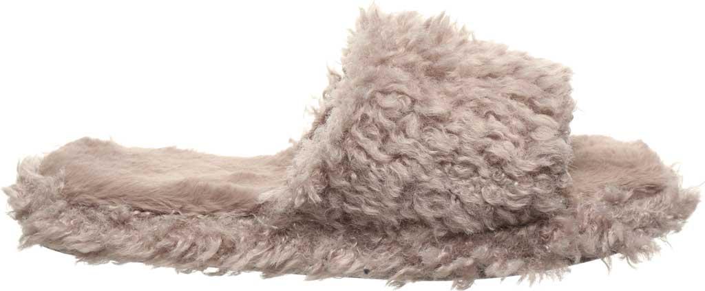 Women's Bearpaw Maxine Slide Slipper, Grey Fog Faux Fur, large, image 2