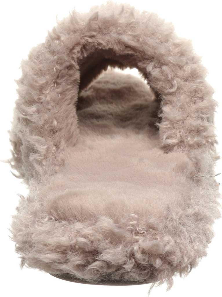 Women's Bearpaw Maxine Slide Slipper, Grey Fog Faux Fur, large, image 4