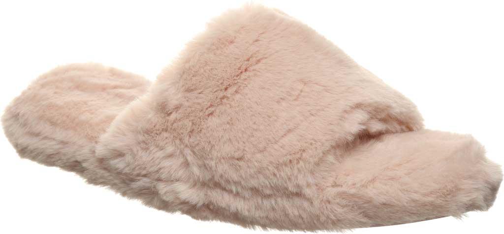 Women's Bearpaw Maxine Slide Slipper, Pink Faux Fur, large, image 1