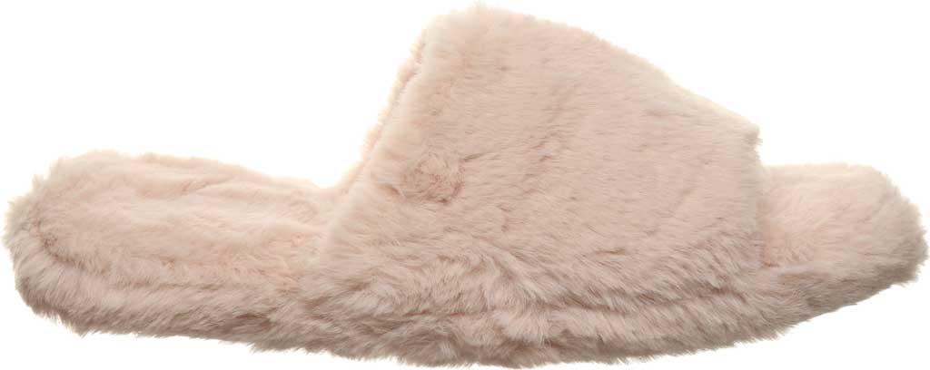 Women's Bearpaw Maxine Slide Slipper, Pink Faux Fur, large, image 2