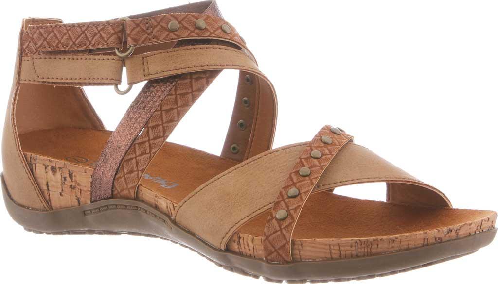 Women's Bearpaw Julianna II Strappy Sandal, Tan Faux Leather, large, image 1