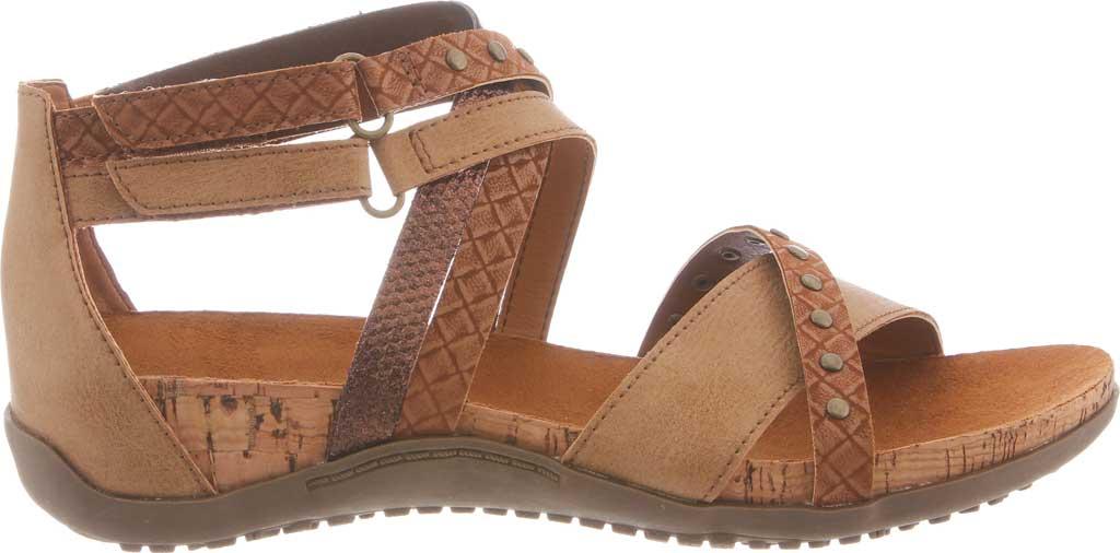 Women's Bearpaw Julianna II Strappy Sandal, Tan Faux Leather, large, image 2
