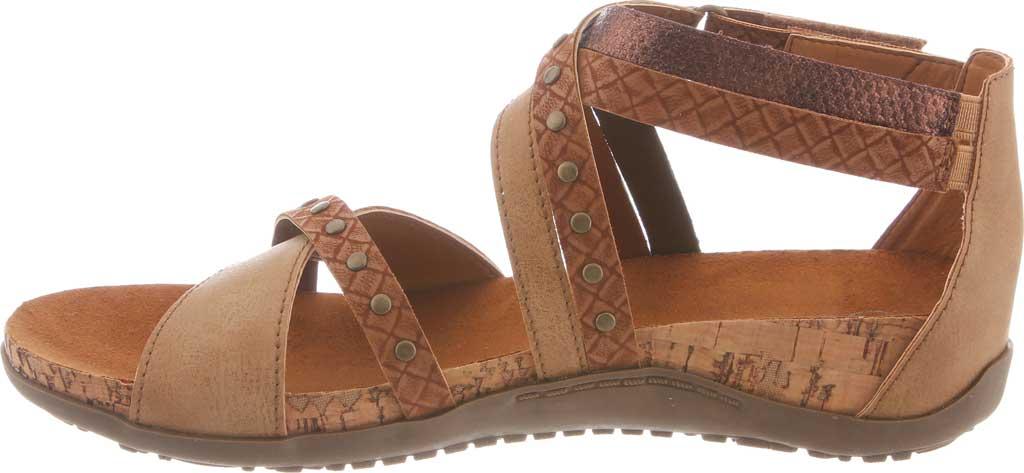 Women's Bearpaw Julianna II Strappy Sandal, Tan Faux Leather, large, image 3