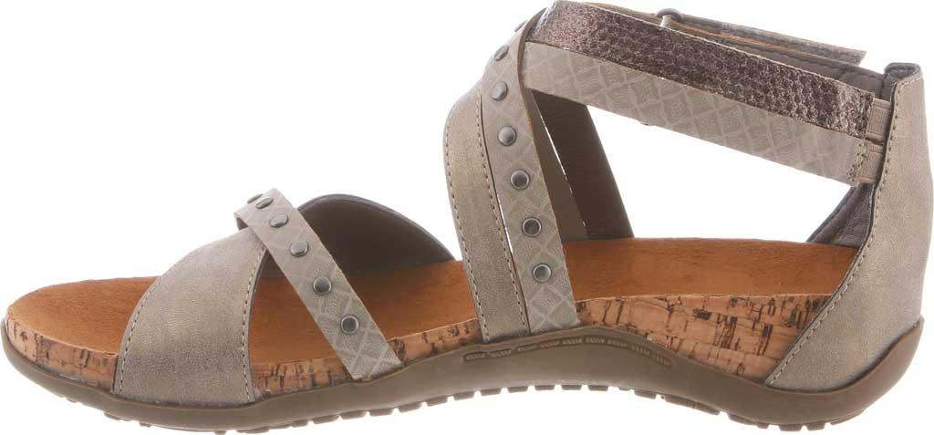 Women's Bearpaw Julianna II Strappy Sandal, Pewter Faux Leather, large, image 3