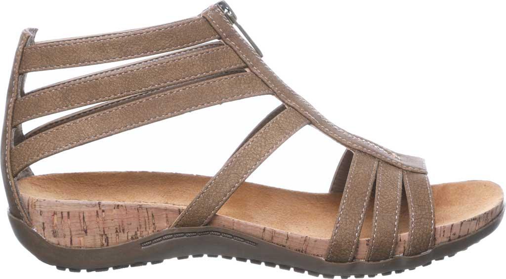 Women's Bearpaw Layla II Wide Strappy Sandal, Brown Faux Leather, large, image 2