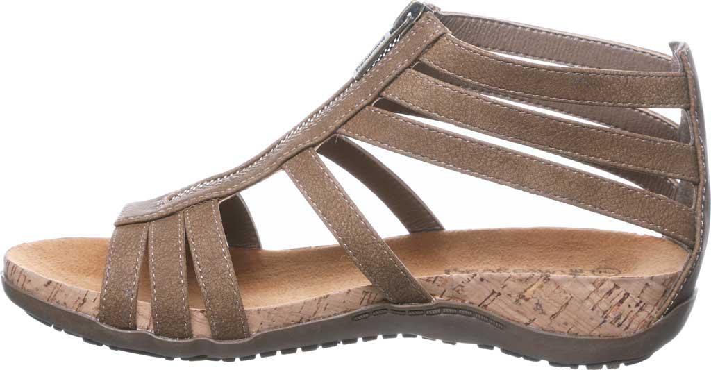 Women's Bearpaw Layla II Wide Strappy Sandal, Brown Faux Leather, large, image 3