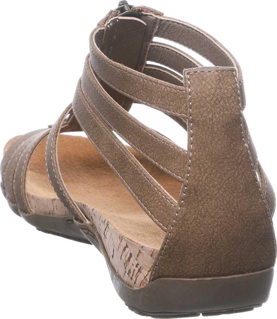 Women's Bearpaw Layla II Wide Strappy Sandal, Brown Faux Leather, large, image 4