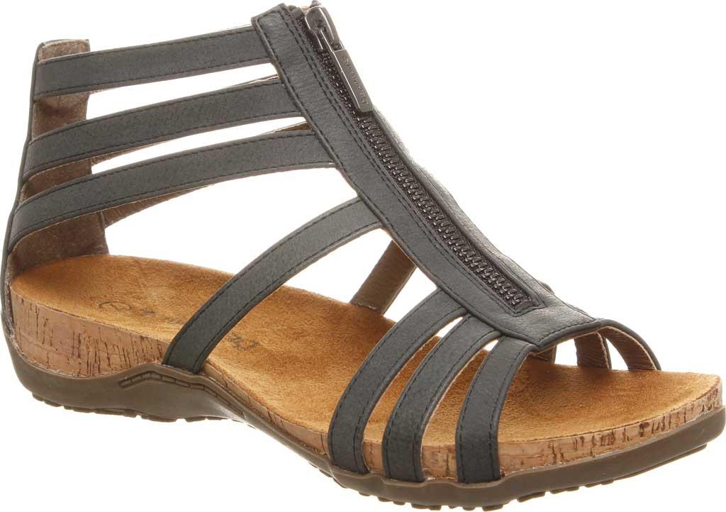 Women's Bearpaw Layla II Wide Strappy Sandal, Black II Faux Leather, large, image 1