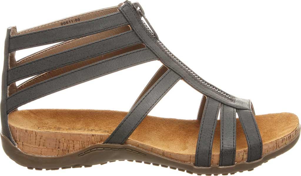 Women's Bearpaw Layla II Wide Strappy Sandal, Black II Faux Leather, large, image 2