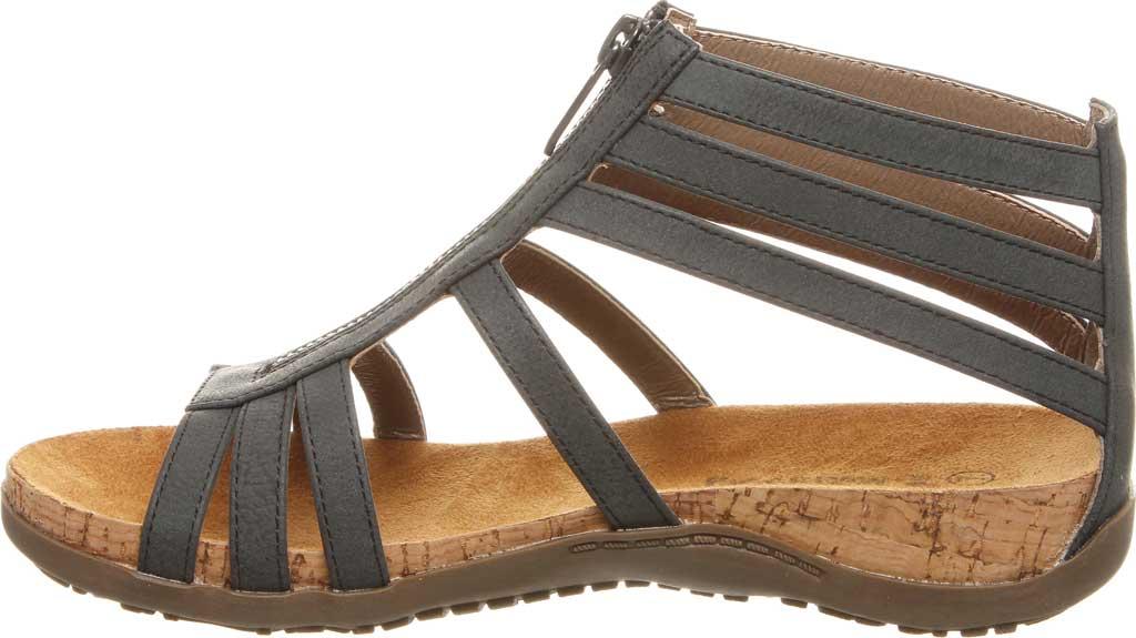 Women's Bearpaw Layla II Wide Strappy Sandal, Black II Faux Leather, large, image 3