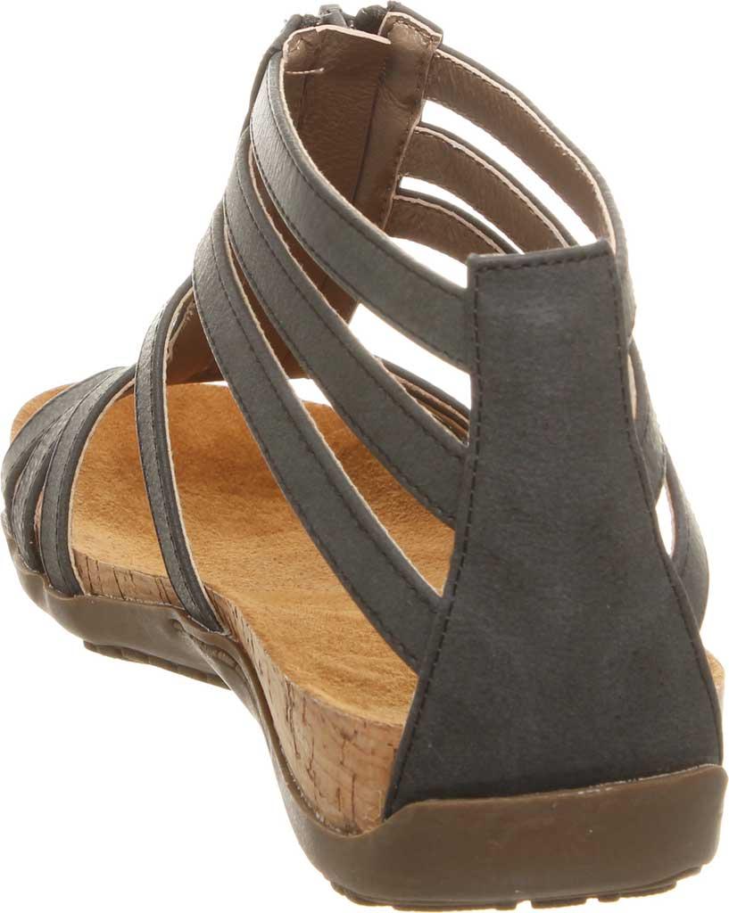 Women's Bearpaw Layla II Wide Strappy Sandal, Black II Faux Leather, large, image 4