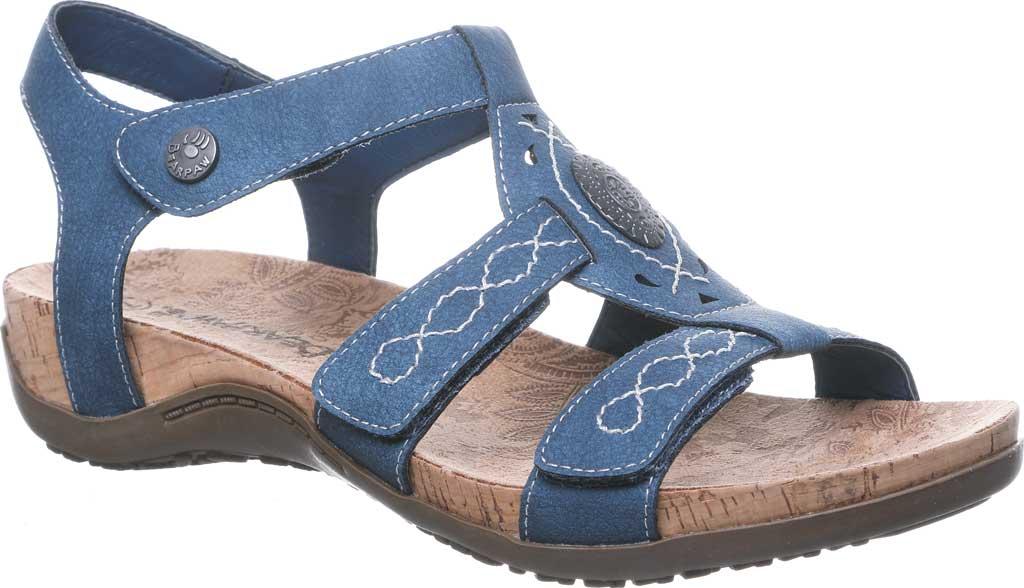 Women's Bearpaw Ridley II Strappy Sandal, Blue Faux Leather, large, image 1