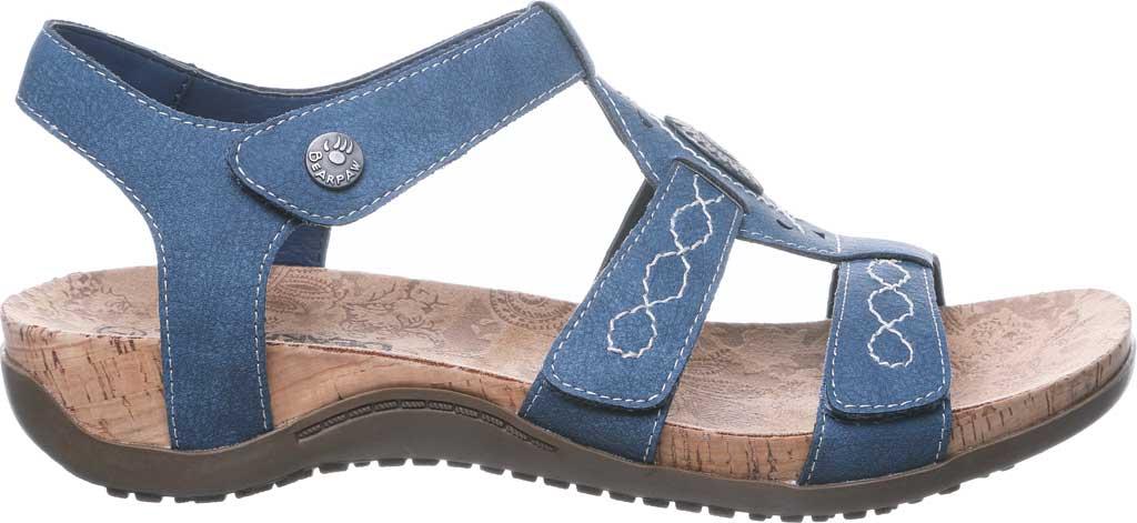 Women's Bearpaw Ridley II Strappy Sandal, Blue Faux Leather, large, image 2