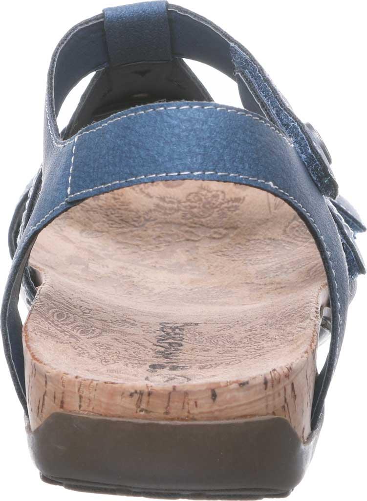Women's Bearpaw Ridley II Strappy Sandal, Blue Faux Leather, large, image 4