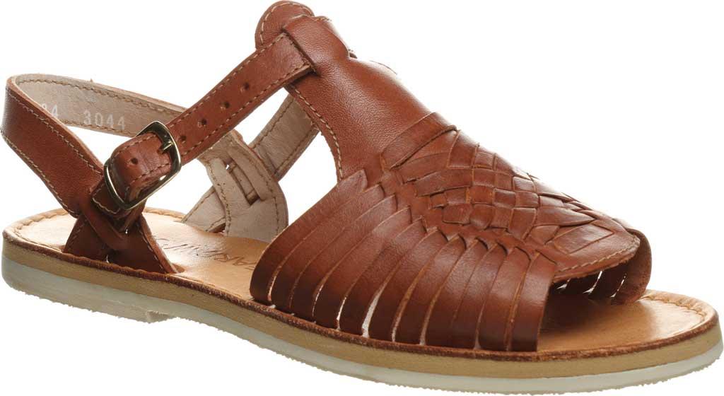 Women's Bearpaw Gloria Flat Strappy Sandal, Saddle Leather, large, image 1