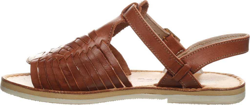 Women's Bearpaw Gloria Flat Strappy Sandal, Saddle Leather, large, image 3