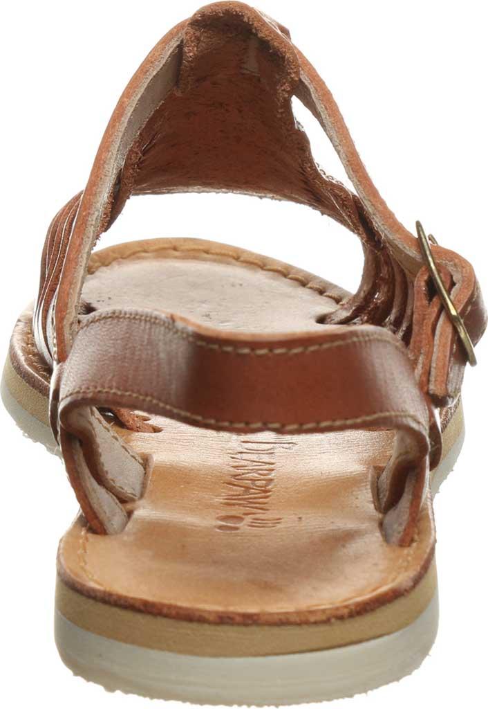 Women's Bearpaw Gloria Flat Strappy Sandal, Saddle Leather, large, image 4