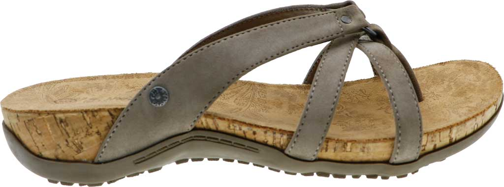 Women's Bearpaw Fawn Strappy Toe Loop Sandal, Mushroom Faux Leather, large, image 2