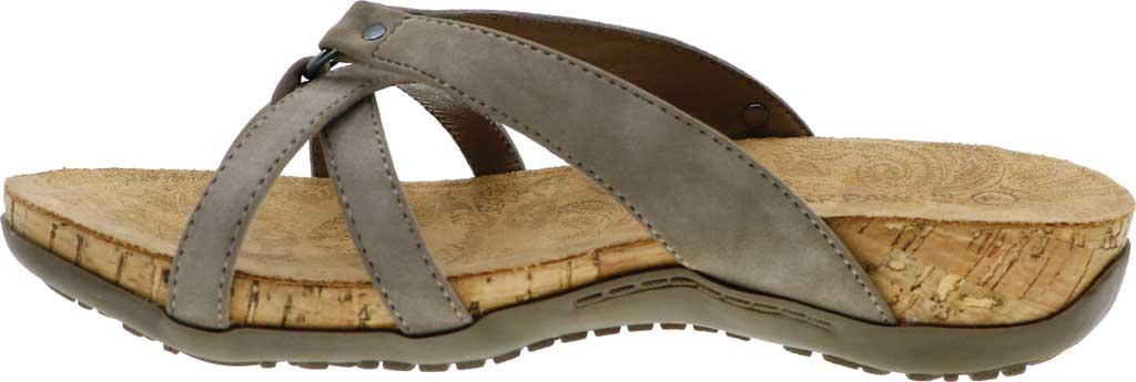 Women's Bearpaw Fawn Strappy Toe Loop Sandal, Mushroom Faux Leather, large, image 3