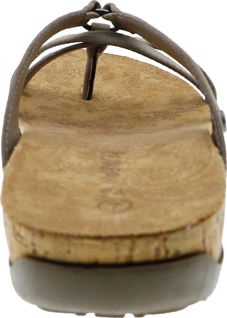 Women's Bearpaw Fawn Strappy Toe Loop Sandal, Mushroom Faux Leather, large, image 4