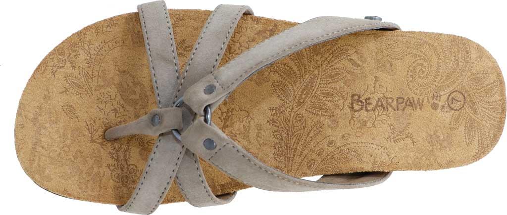 Women's Bearpaw Fawn Strappy Toe Loop Sandal, Mushroom Faux Leather, large, image 5