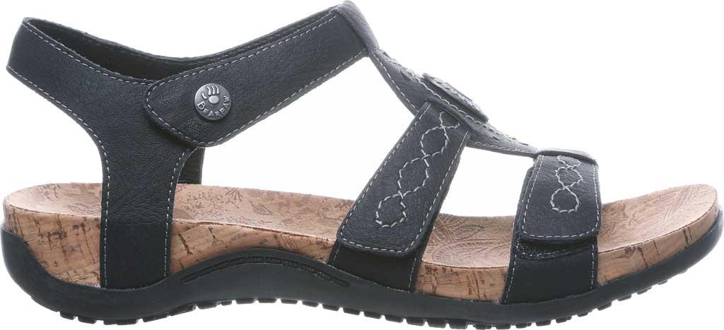 Women's Bearpaw Ridley II Wide Strappy Sandal, Black II Faux Leather, large, image 2