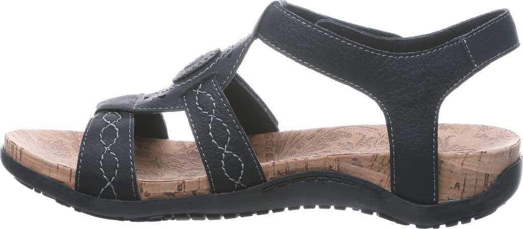 Women's Bearpaw Ridley II Wide Strappy Sandal, Black II Faux Leather, large, image 3