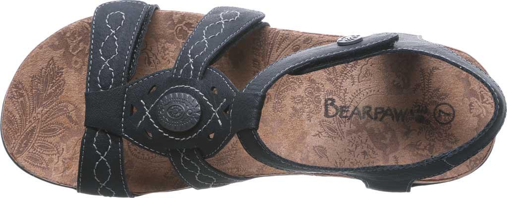 Women's Bearpaw Ridley II Wide Strappy Sandal, Black II Faux Leather, large, image 5