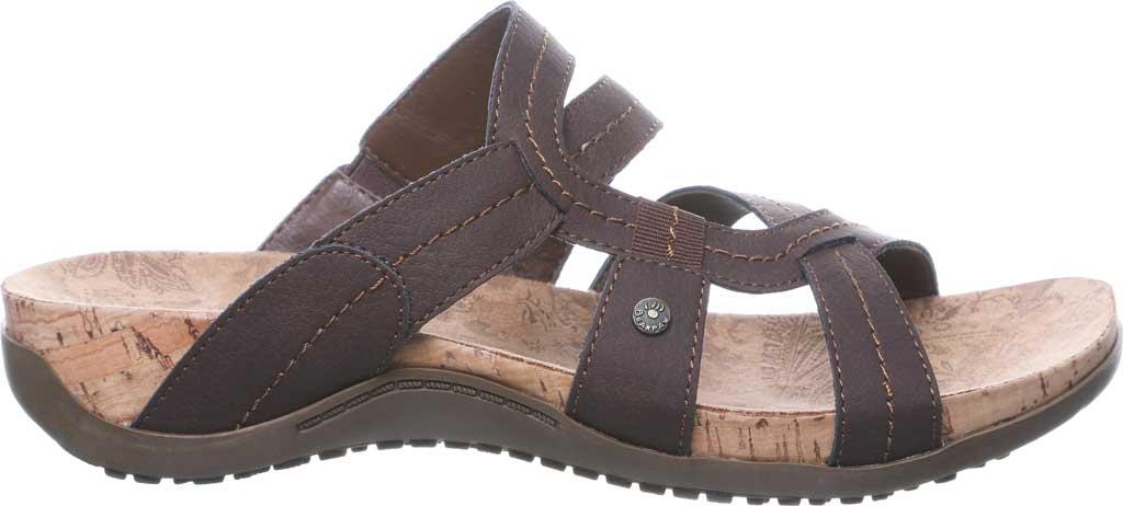 Women's Bearpaw Kai Wide II Strappy Slide, Dark Brown Faux Leather, large, image 2