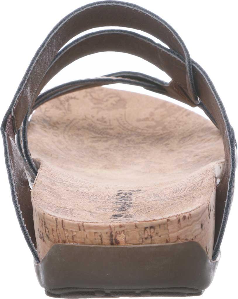 Women's Bearpaw Kai Wide II Strappy Slide, Dark Brown Faux Leather, large, image 4